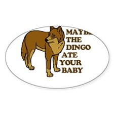 Dingo Baby Seinfeld Oval Decal