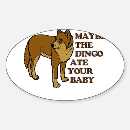 Dingo Baby Seinfeld Oval Decal