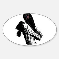 Mothers Love Bomb Oval Decal