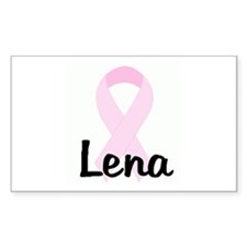 Lena pink ribbon Rectangle Decal
