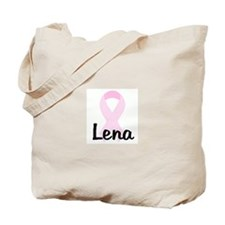 Lena pink ribbon Tote Bag