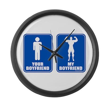 Boyfriends Large Wall Clock