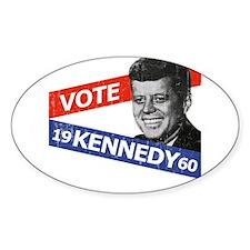 Retro Kennedy 1960 Oval Decal