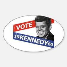 Retro Kennedy 1960 Oval Decal