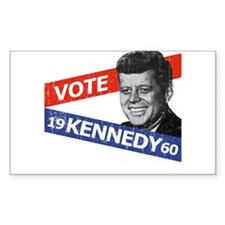 Retro Kennedy 1960 Rectangle Decal