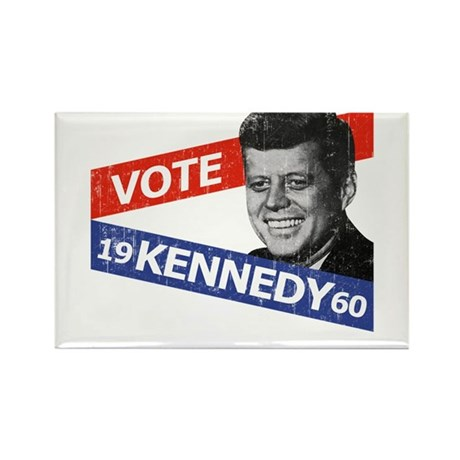 Retro Kennedy 1960 Rectangle Magnet (10 pack)
