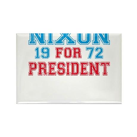 Retro Nixon 1972 Rectangle Magnet (100 pack)