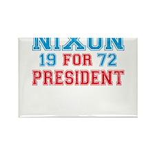 Retro Nixon 1972 Rectangle Magnet