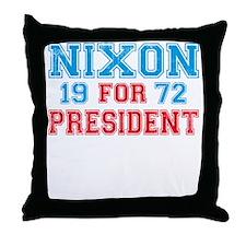 Retro Nixon 1972 Throw Pillow