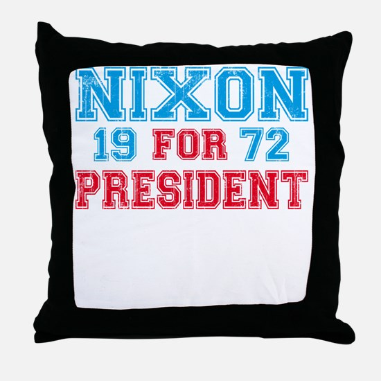 Retro Nixon 1972 Throw Pillow
