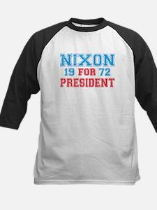 Retro Nixon 1972 Kids Baseball Jersey