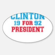 Retro Clinton 1992 Oval Decal