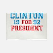 Retro Clinton 1992 Rectangle Magnet