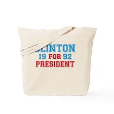 Retro Clinton 1992 Tote Bag