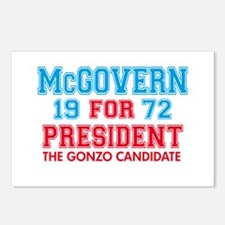 McGovern 1972 Gonzo Postcards (Package of 8)