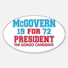 McGovern 1972 Gonzo Oval Decal