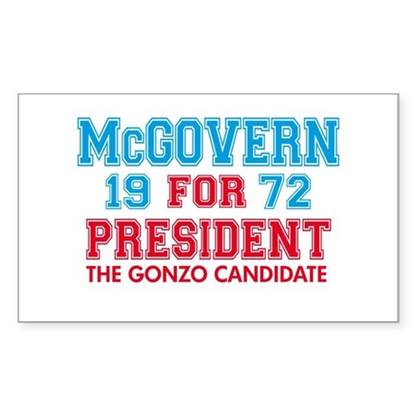 McGovern 1972 Gonzo Rectangle Sticker