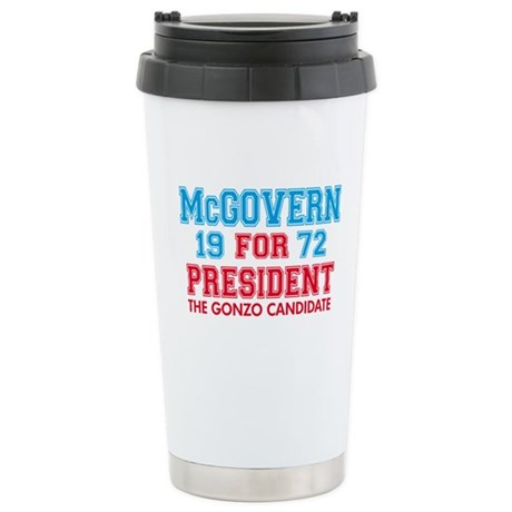 McGovern 1972 Gonzo Stainless Steel Travel Mug