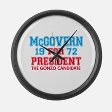 McGovern 1972 Gonzo Large Wall Clock