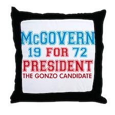 McGovern 1972 Gonzo Throw Pillow
