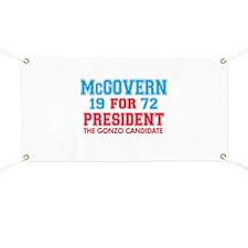 McGovern 1972 Gonzo Banner