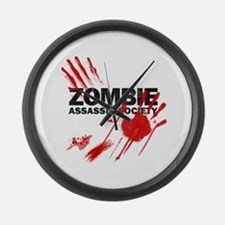 Resident Zombie Assassin Large Wall Clock