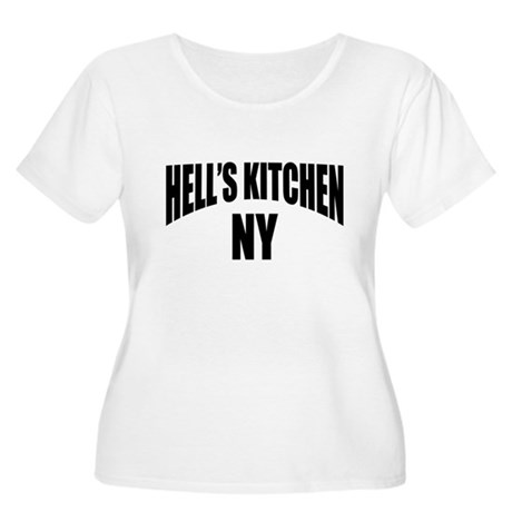 Hells Kitchen NY NYC Women's Plus Size Scoop Neck