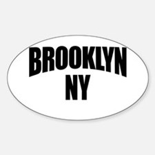Brooklyn NY NYC Oval Decal