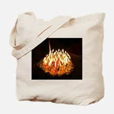 60 candles Tote Bag