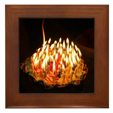 60 candles Framed Tile