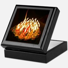 60 candles Keepsake Box