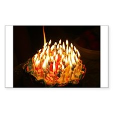 60 candles Rectangle Sticker 10 pk)