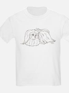 Fluffy Pekingese Kids T-Shirt