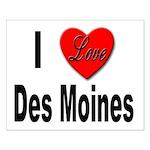 I Love Des Moines Iowa Small Poster