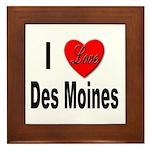 I Love Des Moines Iowa Framed Tile