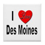 I Love Des Moines Iowa Tile Coaster