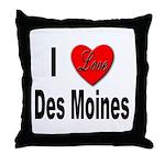 I Love Des Moines Iowa Throw Pillow