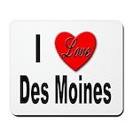 I Love Des Moines Iowa Mousepad