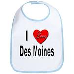 I Love Des Moines Iowa Bib