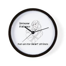 Spinone Italiano Heartstrings Wall Clock