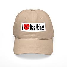 I Love Des Moines Iowa Baseball Cap