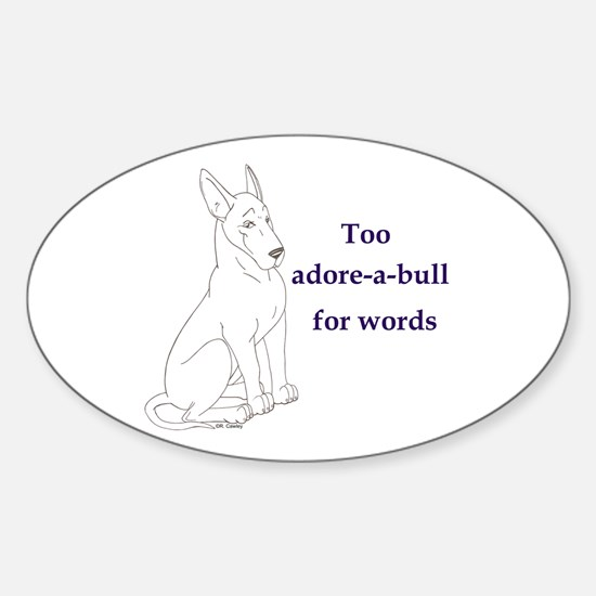 Adore-a-bull Oval Decal