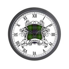 Forbes Tartan Shield Wall Clock