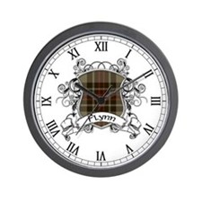 Flynn Tartan Shield Wall Clock