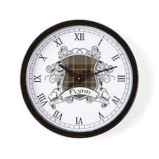 Flynn Tartan Shield Wall Clock