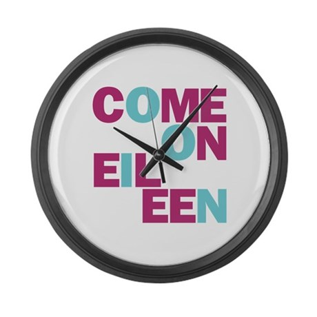 Come On Eileen Eighties Large Wall Clock