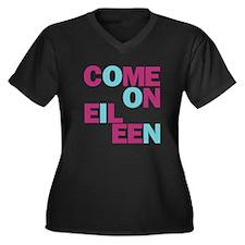 Come On Eileen Eighties Women's Plus Size V-Neck D