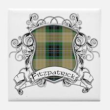 Fitzpatrick Tartan Shield Tile Coaster