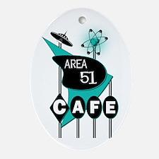 Area 51 Cafe Oval Ornament