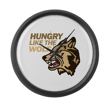 Hungry Like Wolf Duran Rio Large Wall Clock